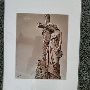 Beautiful lady with cross